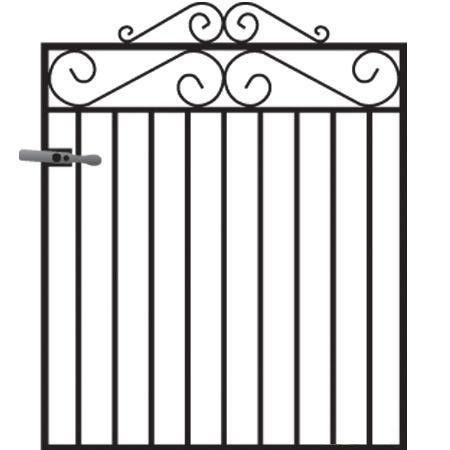Marlborough Metal Garden Gate - 3ft High
