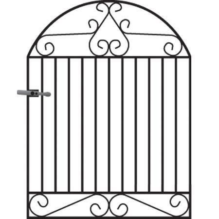 Marlborough Arched Metal Garden Gate - 4ft High