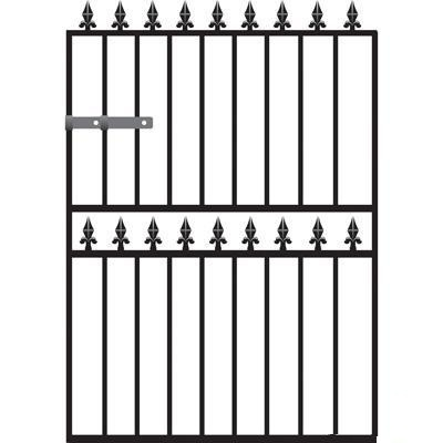 Hampton Wrought Iron Style Garden Gate