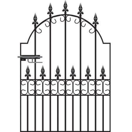 Royal Premier Wrought Iron Style Garden Gate