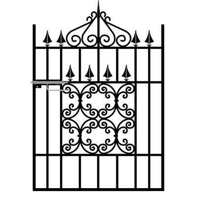 Royal Monarch Wrought Iron Style Garden Gate