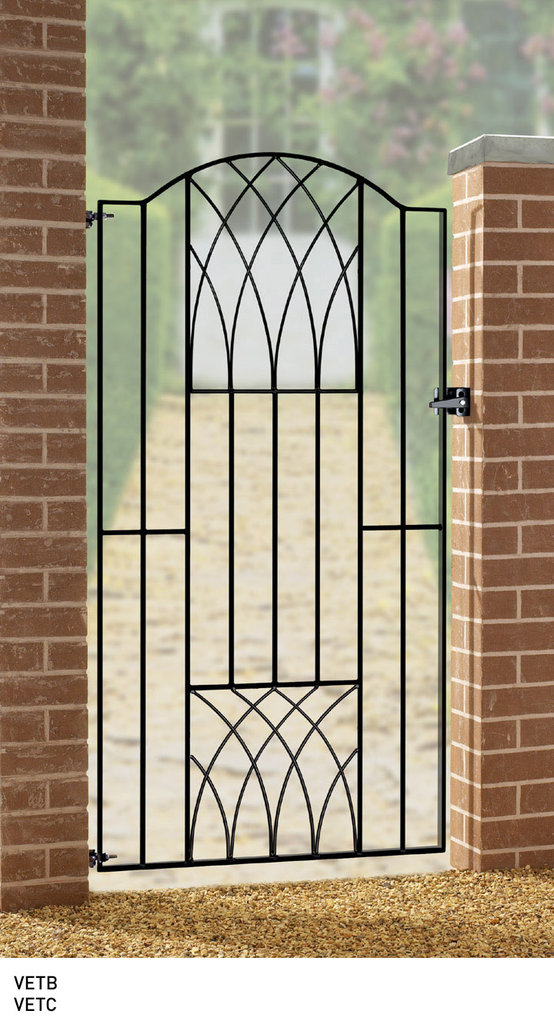 Cheap metal side gates uk made wrought iron side garden for Garden door designs