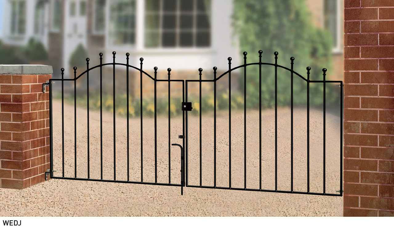 Weston metal driveway gates buy online cheap uk prices for Aluminum driveway gates prices