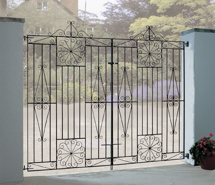 Buy tall metal wrought iron driveway gates online sale