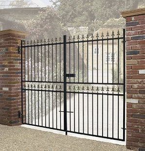 Corfe Tall Wrought Iron Drive Gates