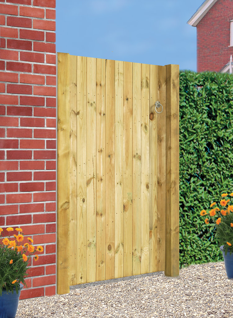 Carlton Wooden Side Gate - Flat Top