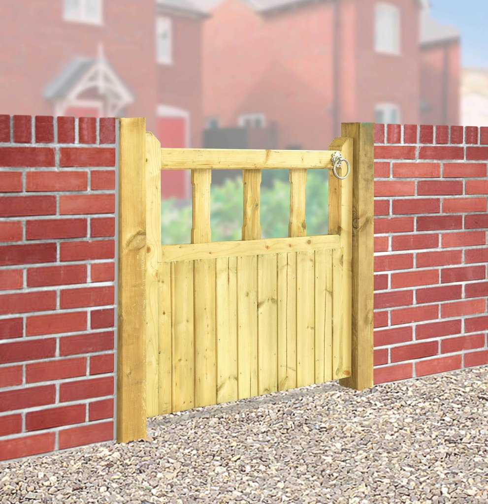 Quorn single wooden garden gate many sizes for sale for Wooden front gate designs