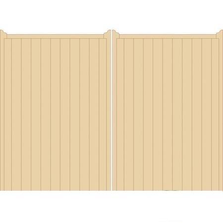 Norfolk Tall Wooden Driveway Gates