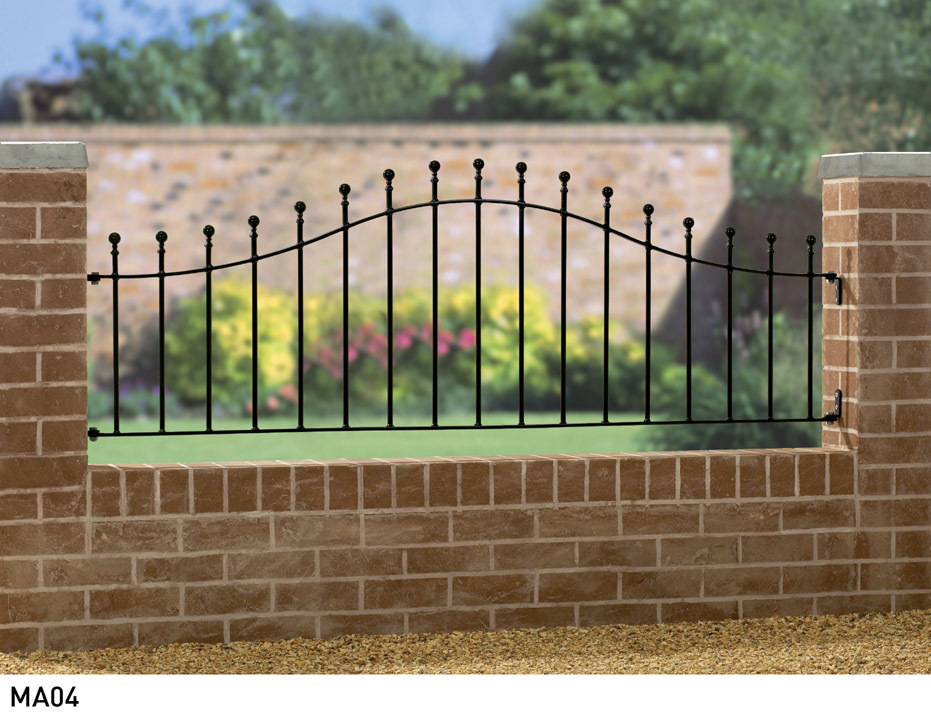 Manor Arched Metal Railings