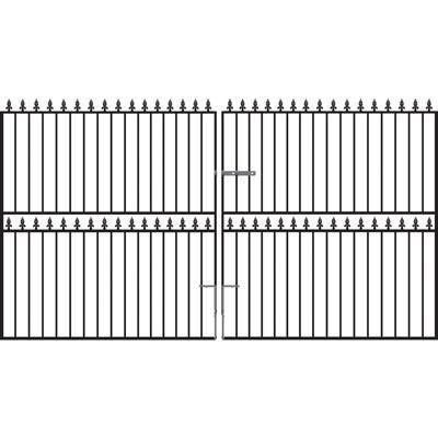 Hampton Tall Wrought Iron Driveway Gates