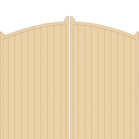 Kent Tall Wooden Driveway Gates - High Centre