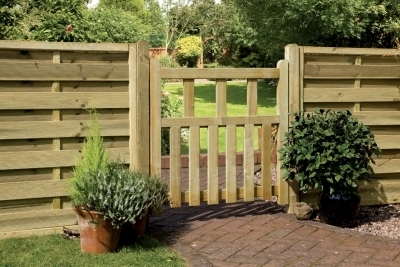 Pale Infill Wooden Garden Gate