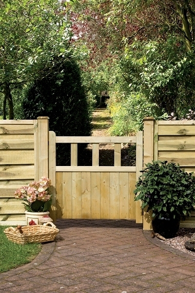Solid Pale Wooden Garden Gate