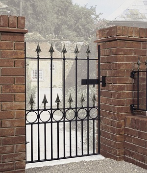 Wrought Iron Style Garden Gates