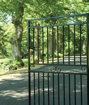 Wrought Iron Style Side Gates