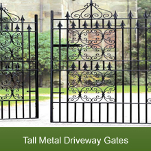 A Selection of Magnificent Tall Metal Drive Gates