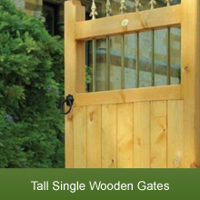 Tall Wooden Garden Gates in a Range of Designs